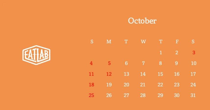 10月の営業日について