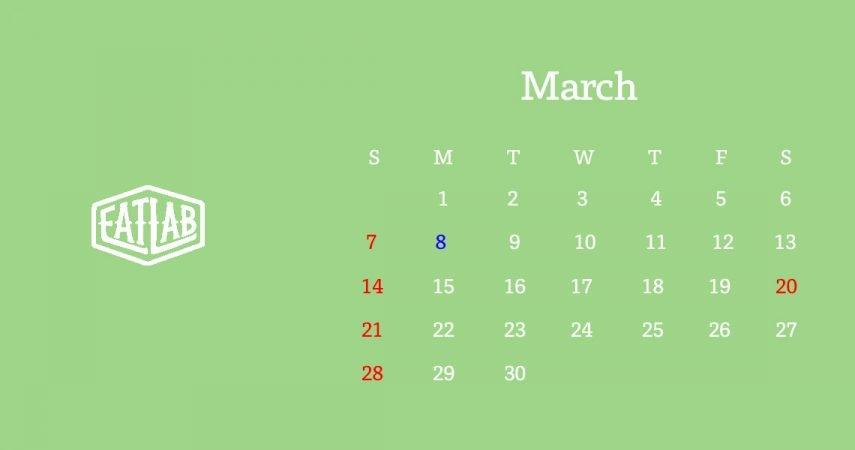 3月の営業について